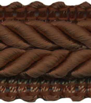 Wav 3/4 Braided Gimp 12yd Chocolate Brn