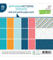 "Lawn Fawn Petite Paper Pack 6""X6"" 36/Pkg-Pint-Size Patterns Beachside, , hi-res"