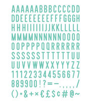DCWV Home 148 Pack 2'' Letters-Teal, , hi-res