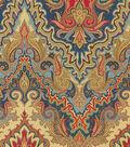 Waverly Print Fabric 54\u0022-Paisley Verse/Jewel