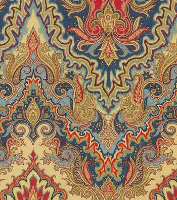 "Waverly Print Fabric 54""-Paisley Verse/Jewel"