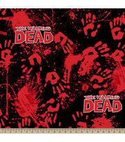 "The Walking Dead Fleece Fabric 59""-Bloody Hands, , hi-res"