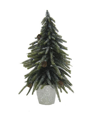 Blooming Holiday Small Tree Glitter-Green