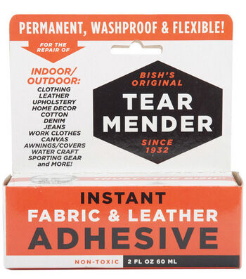 Tear Mender Instant Fabric & Leather Adhesive Packaged-2oz