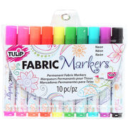 Neon -fabric Markers 10/pk, , hi-res