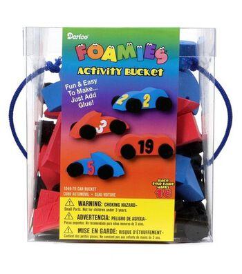 Darice® Foamies Activity Bucket-Cars