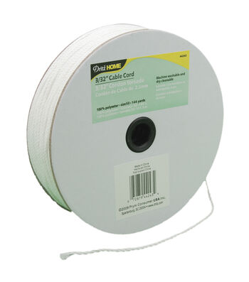 """3/32""""x144yd Cable Cord-White"""