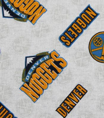 """Denver Nuggets Cotton Fabric 44""""-Logo Toss"""