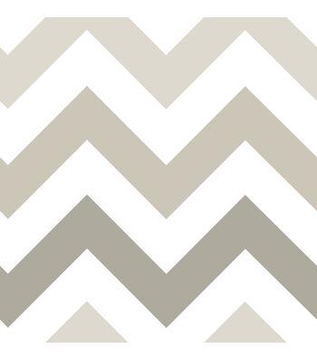 WallPops® NuWallpaper™ Taupe Zig Zag Peel And Stick Wallpaper