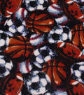 Anti-Pill Fleece Fabric 59\u0022-Sketched All Over Sports