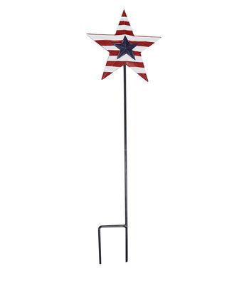 Americana Patriotic 7.25''x24'' Star Stake-Stripe