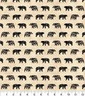 Novelty Cotton Fabric 43\u0022-Black Bear Silhouette