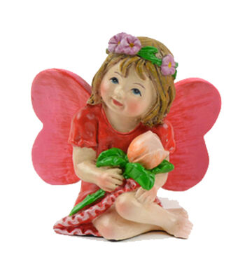 Valentine's Day Littles Polyresin Fairy with Rose