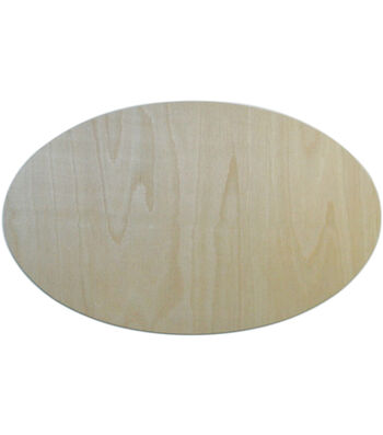 "Unfinished Wood Baltic Birch Plaque 1/Pkg-Oval 7.75""X12.5"""