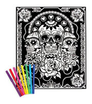 "Color-In Velvet Poster 16""X20""-Day Of The Dead, , hi-res"