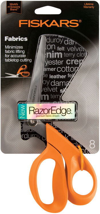 "Fiskars RazorEdge Tabletop Fabric Shears 8"""