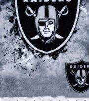 Oakland Raiders Fleece Fabric 58''-Mascot, , hi-res