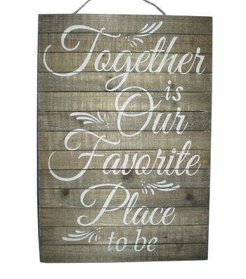 Fall Into Color Together Favorite Place Wall Decor