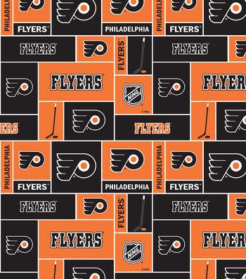 """Philadelphia Flyers Fleece Fabric 60""""-Block"""