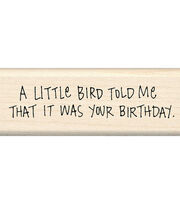 Inkadinkado® Rubber Stamp-A Little Bird Told Me, , hi-res