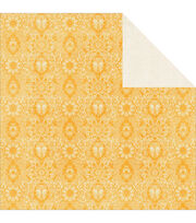 "Tropical Punch Double-Sided Cardstock 12""X12""-Lemonade, , hi-res"