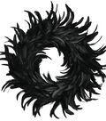 Maker\u0027s Halloween 19\u0027\u0027 Feather Cocktail Wreath-Black