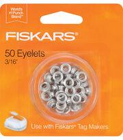 "Fiskars Tag Maker Eyelets 50/Pkg-Silver 3/16"", , hi-res"