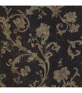 Denise Black Scroll Wallpaper