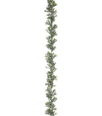 6' Plastic Boxwood Garland x300 Green