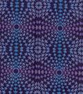 Modern Cotton Fabric 43\u0027\u0027-Circle Burst on Dark Purple