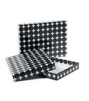 DCWV Designer Set of A6 Boxes: Black with pink foil, , hi-res