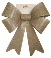 Maker's Holiday Christmas 15''x19'' Bow-Burlap with Glitter, , hi-res