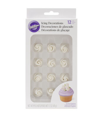 Wilton® Icing Roses-Small White