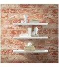 York Wallcoverings Peel & Stick Wall Décor-Stuccoed Red Brick