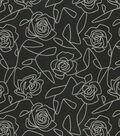 Home Decor 8\u0022x8\u0022 Fabric Swatch-Bed Of Roses Black