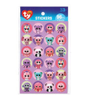 Darice® Beanie Boo 96pcs Paper Stickers-Girl, , hi-res