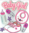 Jolee\u0027s Boutique Dimensional Stickers-Baby Girl