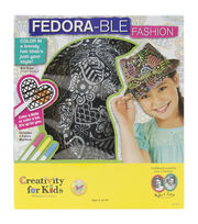 Creativity For Kids Fedorable Fashion Kit, , hi-res