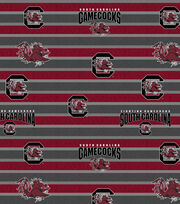"University of South Carolina Gamecocks Fleece Fabric 58""-Polo Stripe, , hi-res"