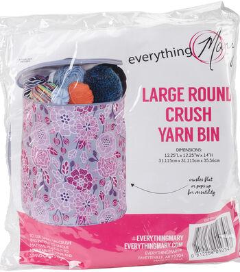 "Everything Mary Round Yarn Bin 12.25""X12.25""X14""-Large Crush Print"