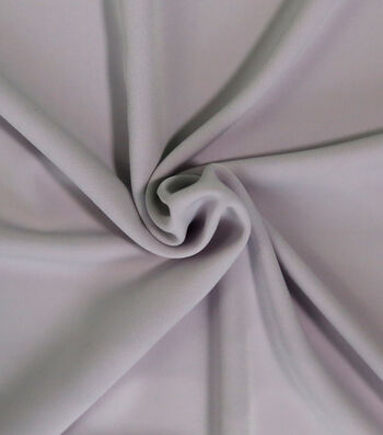 """Silky Solid Stretch Crepe Fabric 58""""-Light Purple"""