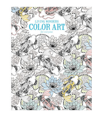 Adult Coloring Book-Leisure Arts Living Wonders