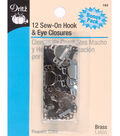 Dritz Skirt Hook&Eye-1/2\u0022 Nickel&Black 12/Pk