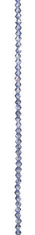 7\u0022 Bead Strands - Light Sapphire Blue AB Crystal Bicones, 4mm