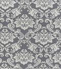 Home Essentials Print Fabric 45\u0022-Grey Damask