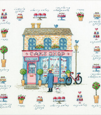 """Cake Shop Counted Cross Stitch Kit-12""""X12"""" 14 Count"""