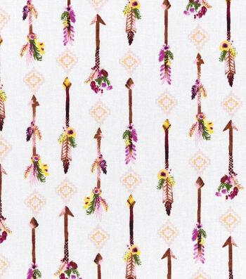 "Nursery Cotton Fabric 43""-Arrow"