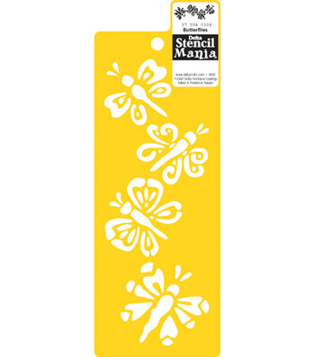 "Delta Stencil Mania Stencil 3""X8-1/2""-Butterflies"