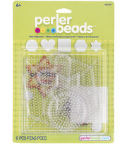 Perler Fun Fusion Pegboards 5/Pkg-Clear Small & Large Basic Shapes, , hi-res