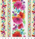 Hi Fashion Premium Quilt Fabric 44\u0022-Floral Stripe
